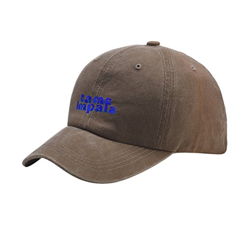 Us 77 Tour T-shirt (Tame Logo Impala Band Music Blue Khaki Washed Dyed Peaked Hat Embroidered Logo Adjustable Fish Cap)