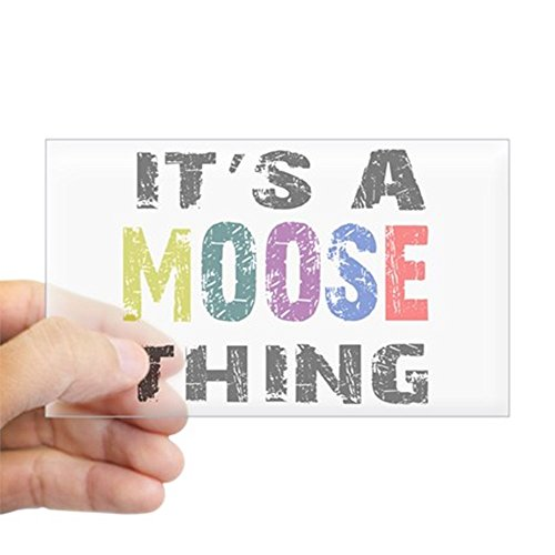 CafePress Moose THING Sticker (Rectangle) Rectangle Bumper Sticker Car Decal