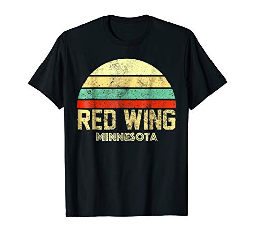 Red Wing Minnesota MN Vintage Retro Sunset Tee T Shirt (Vintage Red Wing)
