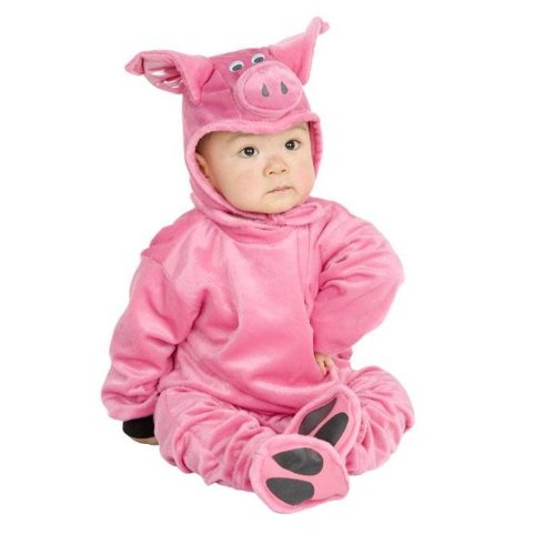 [Little Pig Newborn Baby Costume] (Little Pig Costumes)