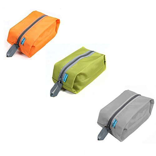 Elife Pack of 3  Nylon Portable Waterproof Travel Shoe Stora