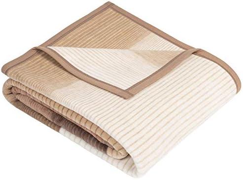 IBENA Sorrento Jeté de lit en jacquard avec motifs Beige/marron/ivoire 150 x 200 cm