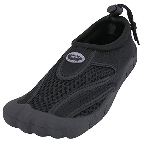 Cambridge Select Dames Instapmodel Mesh Sneldrogende Toe. Waterschoen Zwart / Zwart