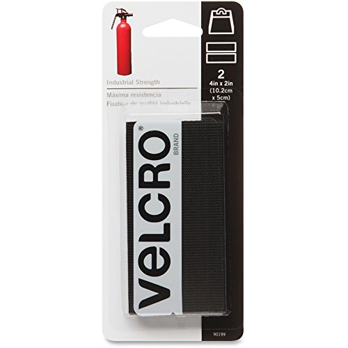 VELCRO Brand - Industrial Strength Tape 4' x 2' Strips, 2 Sets - Black