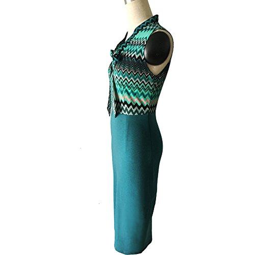 2 Vert Femme Crayon Robe KANGTS Z0wIgg
