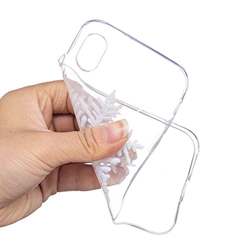 iPhone X Custodia , Moda Fiocco Di Neve Silicone leggero Morbido TPU Sollievo Sottile Protezione Antiurto Copertura Antiscivolo Resistente Coperture Cover Case Custodia per Apple iPhone X