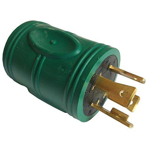 Parkworld 884982 Generator Adapter 4-Prong 30 AMP Locking L14-30P Plug to 20 AMP Locking L14-20R Receptacle by Parkworld