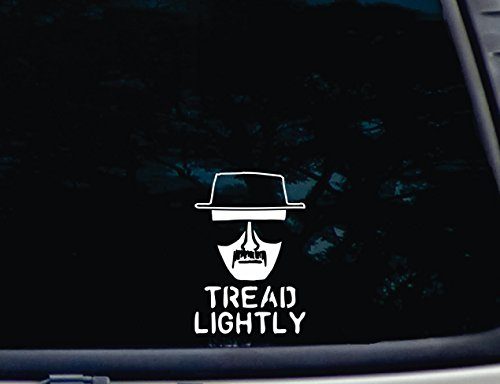 # 548 Walls Mirror and More 4 x 3.6, White Yoonek Graphics Walter White Heisenberg Breaking Bad Decal Sticker for Car Window 4 x 3.6 Laptop Motorcycle Mirror and More # 548