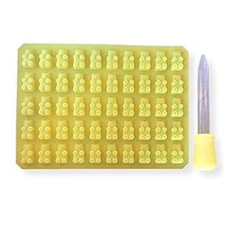 Homemade Kit para hacer de osito de gominola, molde de silicona y cuentagotas - amarillo: Amazon.es: Hogar