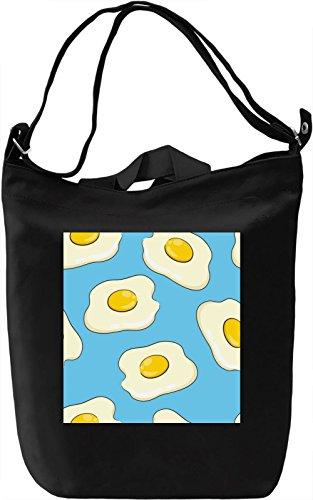 Eggs Print Borsa Giornaliera Canvas Canvas Day Bag  100% Premium Cotton Canvas  DTG Printing 