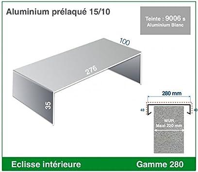 ECLISSE INTERIEURE DE COUVERTINE ALUMINIUM GAMME 200, RAL 1015 SATINE IVOIRE