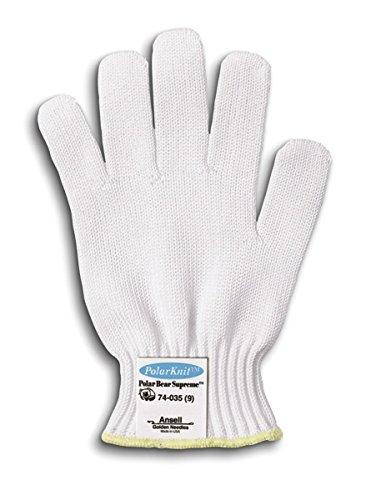 ANSELL PolarBear Plus 74-035 HDPE Glove, Cut Resistant, T...