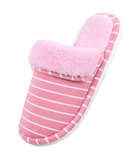 Cattior Dames Bont Gevoerd Huis Schoenen Indoor Huis Slippers Roze