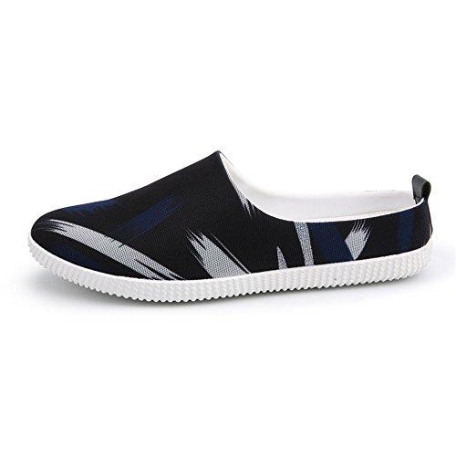 Tacco a Uomo Tacco Canvas Balck in 2018 Mocassini Blue con Spillo Xujw Piatto da Tacco shoes Nuovo Basso Xqwvvp8