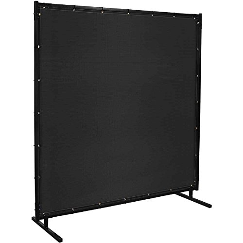 Steiner 536HD-4X6 Protect-O-Screen HD Welding Screen with 13-Ounce Vinyl Laminated Polyester Curtain, Black, 4 x 6'