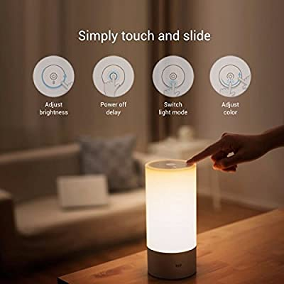 (HQ) Original Xiaomi Yeelight Bedside Lamp RGB Wireless Touch Control Night Light For Cellphone
