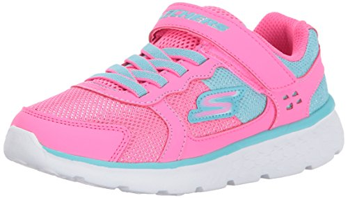Pictures of Skechers Kids Girls' GO Run 400-Sparkle 81358L Neon Pink/Aqua 1