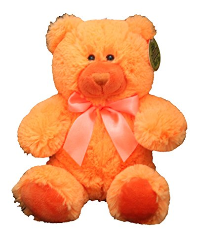 Anico Plush Teddy Bear, Stuffed Animal, Bright Orange, 8 Inches (Orange Soft Bear)
