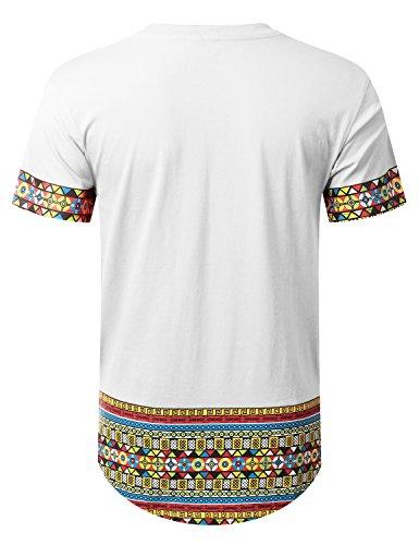 URBANCREWS Mens Hipster Hip Hop African Dashiki Graphic Top Shirts