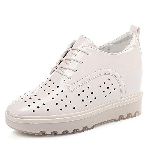 Aumentar En La Versión Coreana De Zapatos De Las Mujeres En El Verano,Zapatos De Cabeza Cuadrada,Zapatos De Plataforma De Espesar,Zapatos Plano Casuales C
