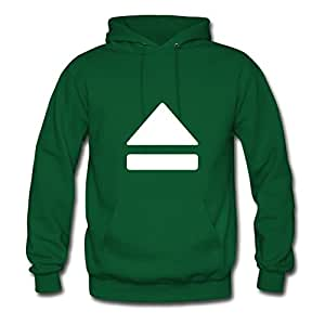 X-large Women Eject (white) Chic Customized Green Cotton Hoody