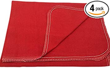 car interiors DIY projects garages Red 4-Pieces seats protects auto surfaces Eco-friendly 100/% Soft Natural Cotton ideal for mechanic shop body shops Auto Fender Cover and Seat Protector