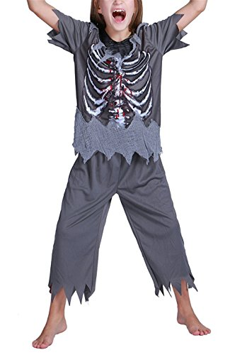 Seipe Boys Girls Halloween Skeleton Costumes Cosplay Party Funny Zombies Apparel