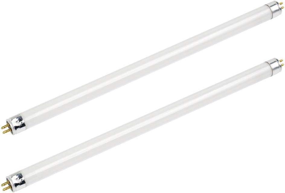 """2-Pack F8T5/DL - T5 Fluorescent 5000K Day Light - 8 Watt - 12"""" Super Long Life Fluorescent Light Bulbs 20,000Hr, by Bluex Bulbs"""