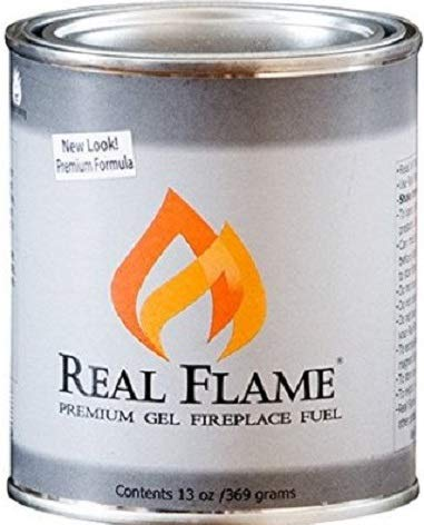 Real Flame 2112 13 oz Premium Fireplace Gel - Quantity 4 (Fireplace Flame Gel)