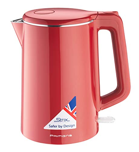 Premium Cordless Hot Water Electric Tea Kettle - Automatic Shut Off - Double Wall Cool Touch - Water Heater Boiler, Fast Boil - Portable Kettle - British Strix Сontroller (Electric Color Kettle)