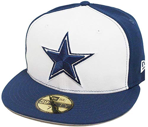 New Era Dallas Cowboys White Navy 2 Tone On Field NFL Cap 59fifty 5950 Fitted Limited Edition