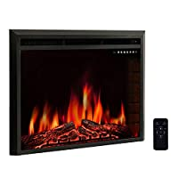 R.W.FLAME Electric Fireplace Insert,Trad...