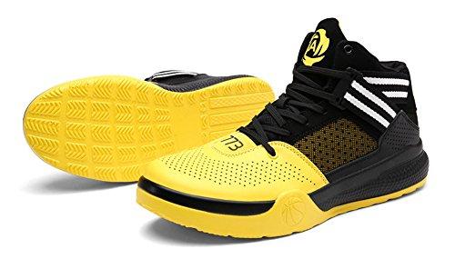 JiYe Performance Sportschuhe Herren Damen Basketball Fashion Sneakers Schwarz Gelb
