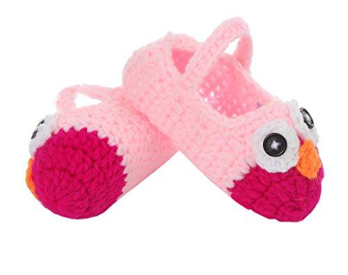 Tricô Um Tricô De Padrão De Bigood Rosa 11 Bebê Doce Sapato Unisex Centímetros Pássaro Tamanho Sapatos fqwXwxEdY