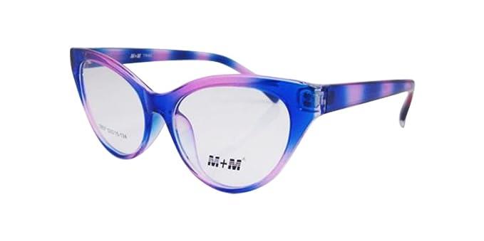 Amazon.com: Multi Color TR-90 Women\'s Cat Eye Vintage Eyeglass Frame ...