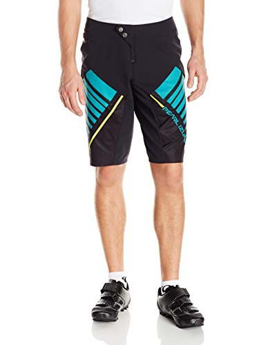 Pearl iZUMi - Ride Men's Divide Shorts, Black/Viridian Green, X-Large