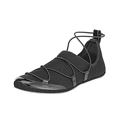 baa7837aacb3e8 ZXD Women s Men s Fabric Mesh Sneakers Casual Breathable Thin Sole Slip-on  Barefoot Trainers Flats