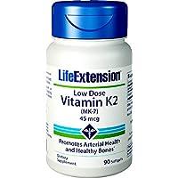 Life Extension dosis baja de vitamina K2 (MK-7), 90 cápsulas blandas
