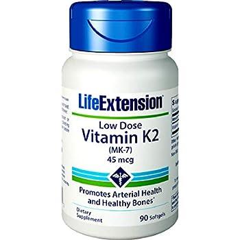 Life Extension Low-Dose Vitamin K2 (MK-7), 90 Softgels
