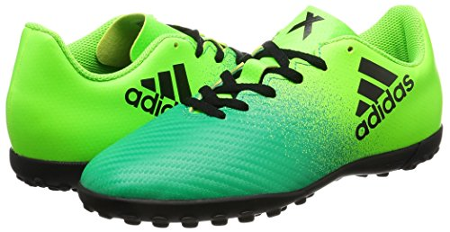 adidas X 16.4 TF J - Botas de fútbol para niños, Verde - (VERSOL/NEGBAS/VERBAS), -33
