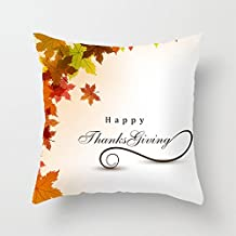 Heavyxias Decorative 18 X 18 Inch Canvas Pillow Cover Cushion Case, Thanks Giving