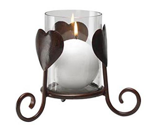 Biedermann & Sons Antique Bronze Hearts Candle Holder