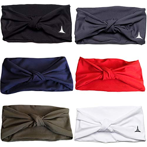 (French Fitness Revolution Yoga Headbands for Women/Sweatband for Sports, Workout or Running, Insulates and Absorbs Sweat, Head Bands for Girls)
