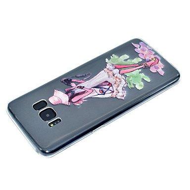 Casos hermosos, cubiertas, Para la galaxia s8 de samsung más la caja del teléfono de s8 caso del teléfono de la muchacha del recorrido de la caja suave del teléfono ( Modelos Compatibles : Galaxy S8 ) Galaxy S8