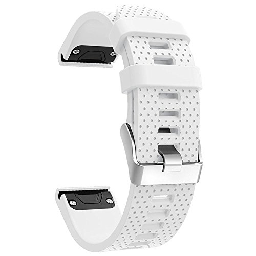 QGHXO Band for Garmin Fenix 5S, Soft Silicone Replacement Watch Band Strap for Garmin Fenix 5S Smart Watch, Fit 5.31-8.46, (Not Fit Fenix 5 / 5X)