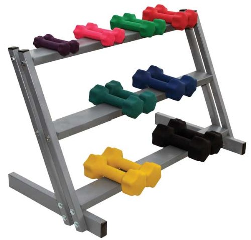 Dumbbell Rack, 3 Tier, Floor Stand, Holds up to 20 Dumbbells by River's Edge Products
