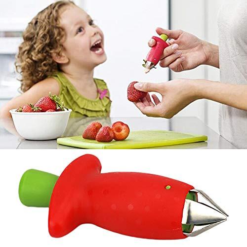 KEYUAN Huller Fresa Peladores m/ás adecuados Nuevo Tomate De Fresa Hojas De Tallo Remover Huller Removedor De Fruta Corer Gadgets de Cocina