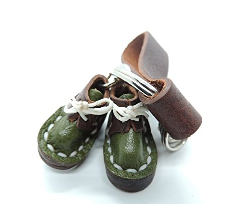 Miniature Handmade Genuine Leather Boots or Shoes Key Chain Key Ring Key holder