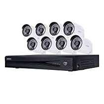 Uniden UNVR85x81080p HD NVR Video Security System 8 Channel x 8 Camera 2TB HDD Night Vision - White