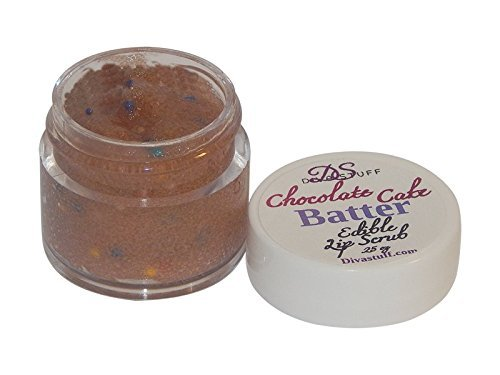 Lip Scrub, Chocolate Cake Batter Flavor, 1/4 ounce of Fun Flavor For Soft Lips by Diva Stuff